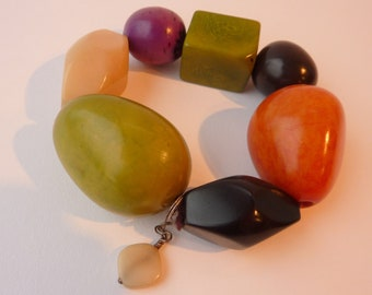 Tagua Nut / Vegetable Ivory Huge Beads for Jewellery / Jewelry Making - Re-purposed Item