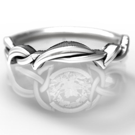 Matching Band for 405b, Sterling Silver Celtic Knot Ring,  Celtic Eternity Ring, Unique Engagement Ring, Handcrafted in Your Size 405b