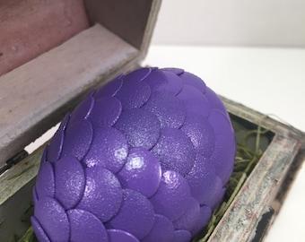 Dragon Egg with Box - Dragon Egg with Chest - Dragon Egg Decor - GoT Dragon Egg - PURPLE - Regal Style Box