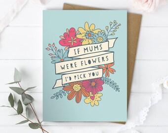 Mom Birthday Card - Mum Birthday Card - Love You Mum Card - Just Because Card - Birthday Message Mum - Card for Mom - Card for Mum - Mom
