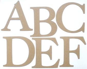 """SALE  4""""  ELEGANT Font - Alterable -  CHiPBOARD Bare Die Cuts  - Alphabet A-Z - 26 Letters - You can CUSTOMiZE"""