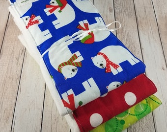 Baby Burp Cloth Set - Polar Bears