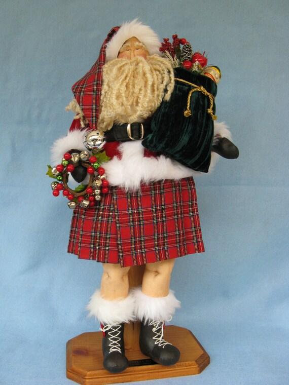 Celtic Santa - Mailed Cloth Doll Sewing Pattern 22in Celtic Santa
