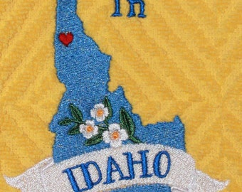 """Embroidered Towel """"Somebody In Idaho Loves You"""""""