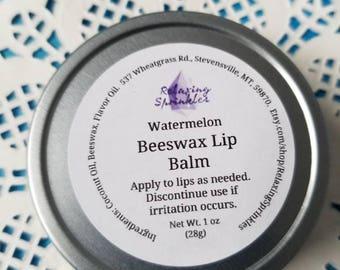 Beeswax Lip Balm- Watermelon- 1 oz tin