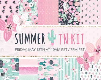 Summer TN kit - Limited edition, exclusive travelers notebook set, A6 or B6 size