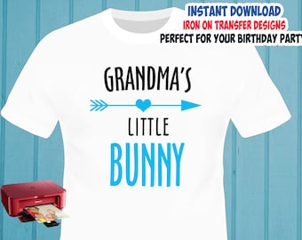 Easter , Easter Bunny Grandma , Iron On Transfer , Easter Grandma Shirt Design , DIY Shirt Transfer , Digital Files , Instant Download