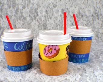 mini coffee cup with lid & stir stick