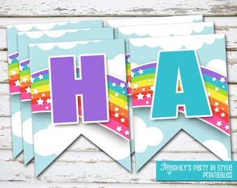 INSTANT DOWNLOAD - My Little Pony Banner, my little pony party, rainbow dash banner, my little pony printables