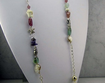 Sterling Silver and Gemstone Necklace
