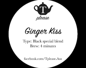 Ginger Kiss loose leaf tea