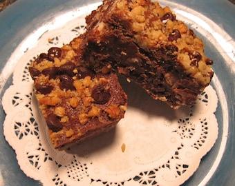 Macaroon Fudge Brownie- Almond Coconut Filling-Rich-Intense Brownie