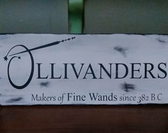Harry Potter Ollivanders Store Front Sign, Hand painted