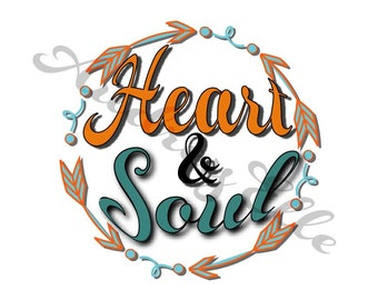 Circle Arrows Heart and Soul SVG DXF PNG Jpeg