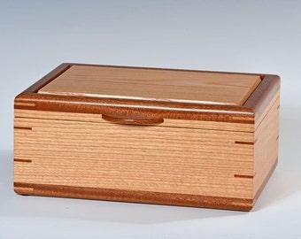 Handcrafted Oak Jewelry Box