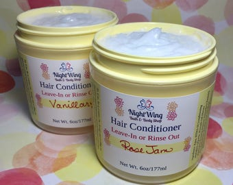 Fruity Scent List! *** Silky Detangling Hair Conditioner - Leave In or Rinse Out - 6oz