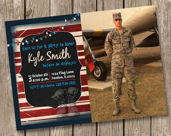 Military Deployment Party Invitation