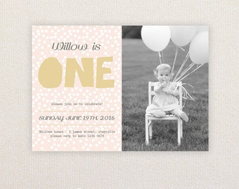 Girls Birthday Party Invitations. I Customize, You Print.