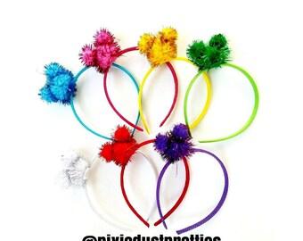 Mouse Pom headbands