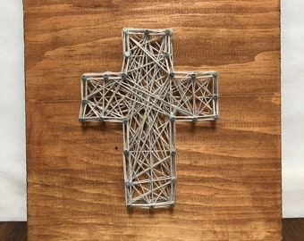 Cross Wall Hanging, Thread Art
