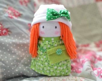 Handmade Sock Doll - Erin