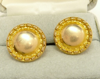 Antique Victorian Gold Filled Cufflinks Cuff Buttons E Ira Richards Co
