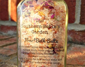 Relaxing Floral Spa Bath Salt Blend