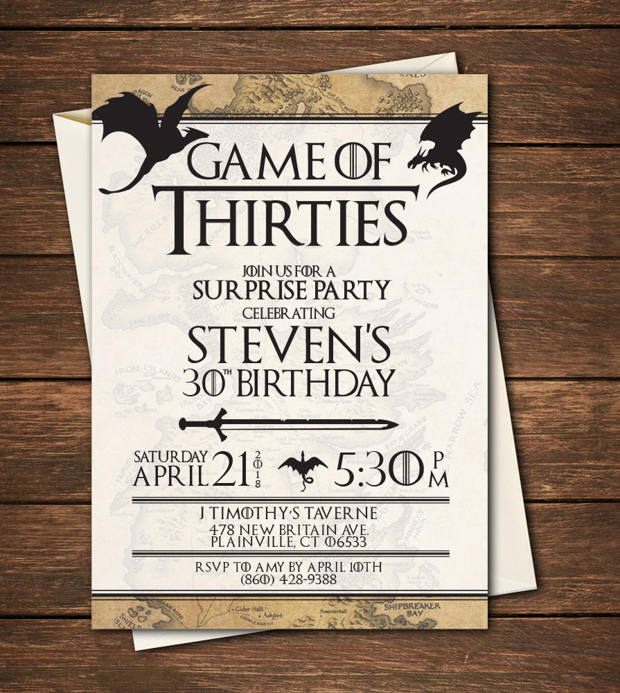 Best game of thrones party invitation images invitation card ideas game of thrones birthday invitation game of thrones filmwisefo Choice Image
