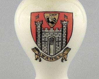 Goss Mini Vase Swansea Coat of Arms