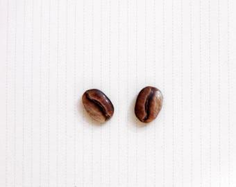 Coffee Bean Earrings Stud Earring Post Bean Jewelry Coffee Earring Coffee Jewelry Coffee Gift