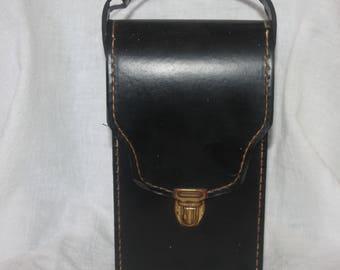 Vintage Mid Century Homa Liquor Travel Case with Scotch and Bourbon Bottles