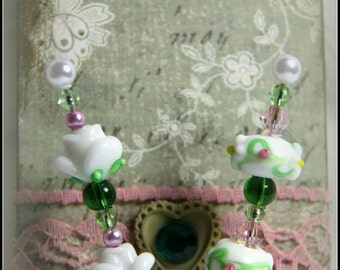 "3"" Decorative Stick Pins with Glass Beads & Coordinating Matchbox Cover"