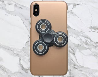 Gold x Red Fidget Spinner Phone Case for iPhone X