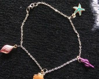 Seashell anklet charm bracelet