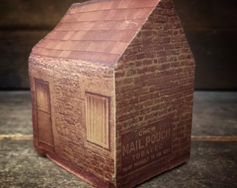 Brown Brick  Building,  Ceramic Building with Architectural Imagery