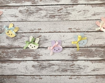 Bunny banner, Easter banner, bunny, Easter, Easter decorations, home decor, photo prop banner, nursery room banner