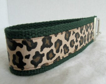 Cheetah Key Chain -Cheetah Key Fob - Wristlet - Cheetah on HUNTER Key Ring - Large Wrist Keychain - Animal Print Key Fob