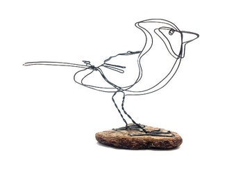 Cardinal Bird Wire Sculpture, Bird Wire Art, Minimal Art Design,595582632