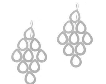 Large Chandelier Sterling Silver Earrings