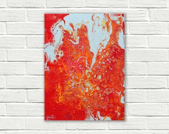 Original abstract painting on canvas, original painting, small painting, Abstract Wall Art, fluid painting, colorful art