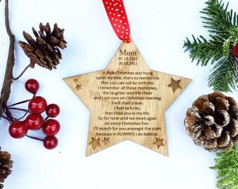 Memorial Christmas Ornament - Personalized In Loving Memory Christmas Ornament - Christmas Ornament - Memorial Gift 5CD