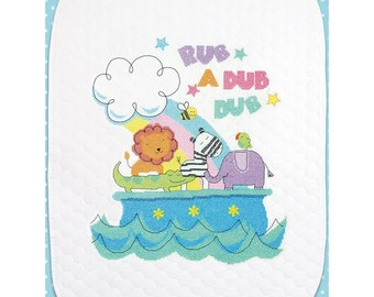 Dimensions Stamped Cross Stitch Kit - Rub-A-Dub Quilt #70-74368