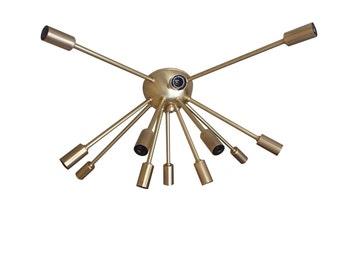 Atomic 12 Arm Sputnik Flush-Mount Ceiling Light Mid Century