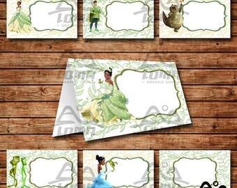 Tiana Birthday Tent Card, Tiana Birthday, Disney Princess Tent Card, Disney Princess Food Card, Tiana, The Princess and the Frog
