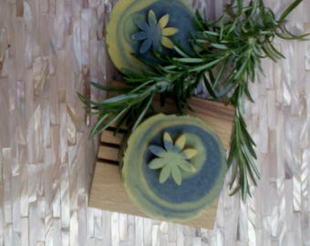 Rosemary & Patchouli Essential Oil, Hempseed and Olive Oil Handmade Soap Bar. Vegan, Palm and SL Free