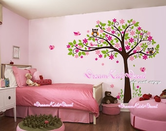 Cherry Blossom Tree wall decal baby nursery wall decals children girl wall decals wall sticker wall decor-DK148