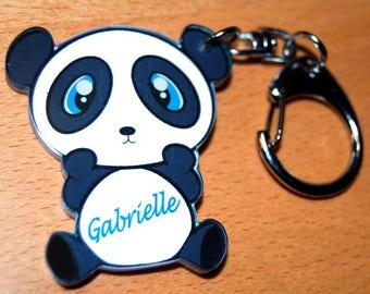 panda Keychain personalize name or Word of your choice