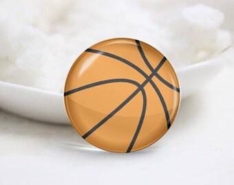 Basketball Photo Glass Cabochons (P3843)
