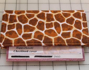 giraffe checkbook cover something wild animal case