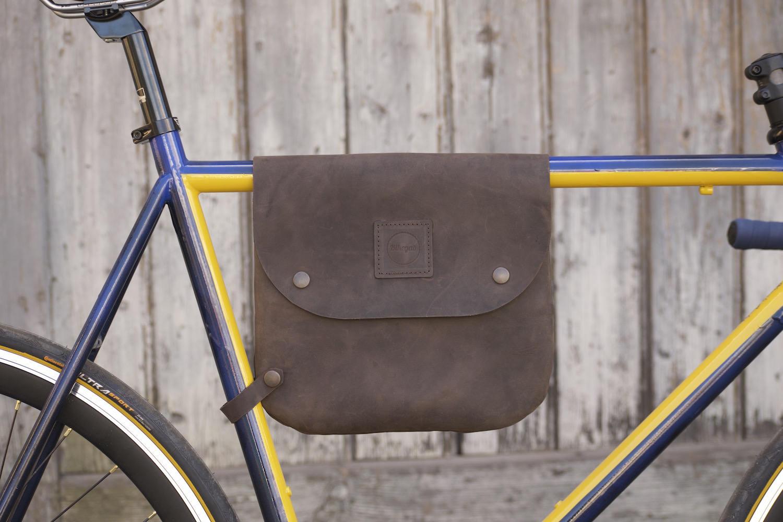 Fahrradtasche Leder / Fahrrad-Rahmen-Tasche Schulter Tasche